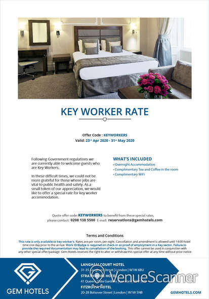 Hire Fitzrovia Hotel Portland Suite 4