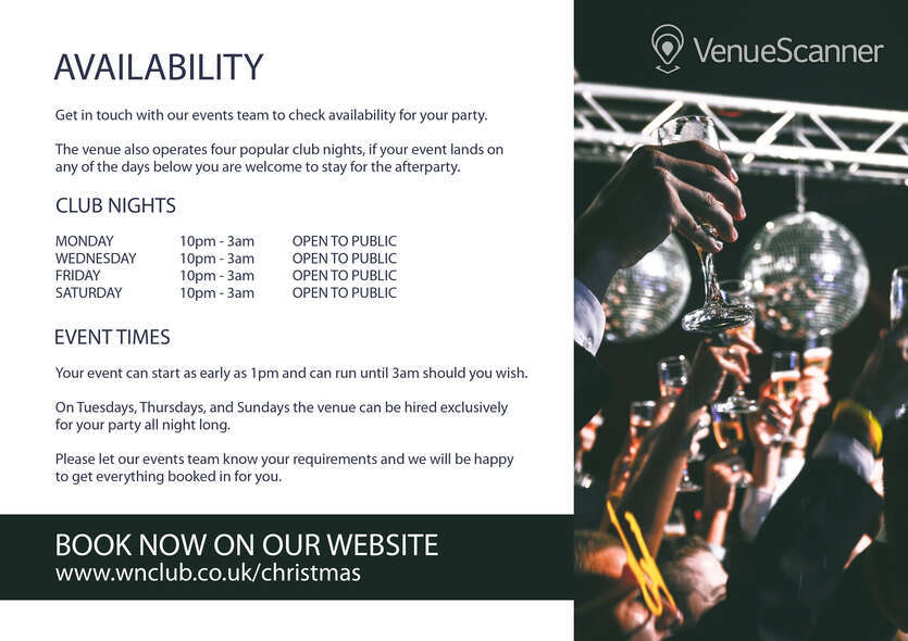 Hire Christmas Parties At Why Not Nightclub Shared Christmas Parties 7