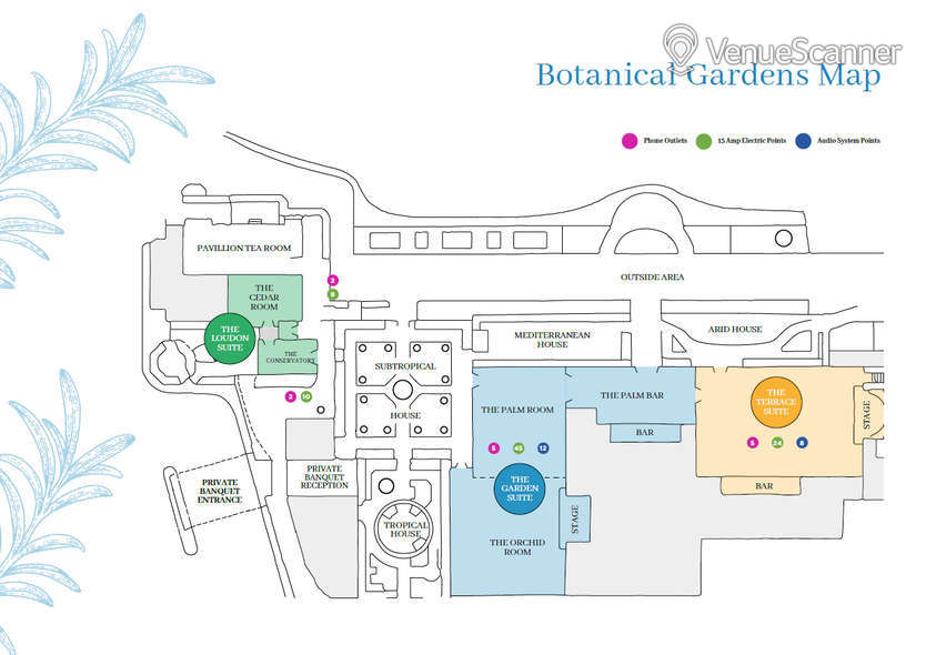 Hire Birmingham Botanical Gardens Terrace Suite 3