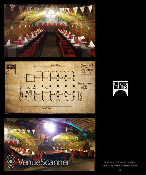 Hire The Ivory Vaults Xmas Party, Nightfall Banquet 7