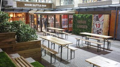 Boom: Battle Bar Cardiff Beer Garden 0